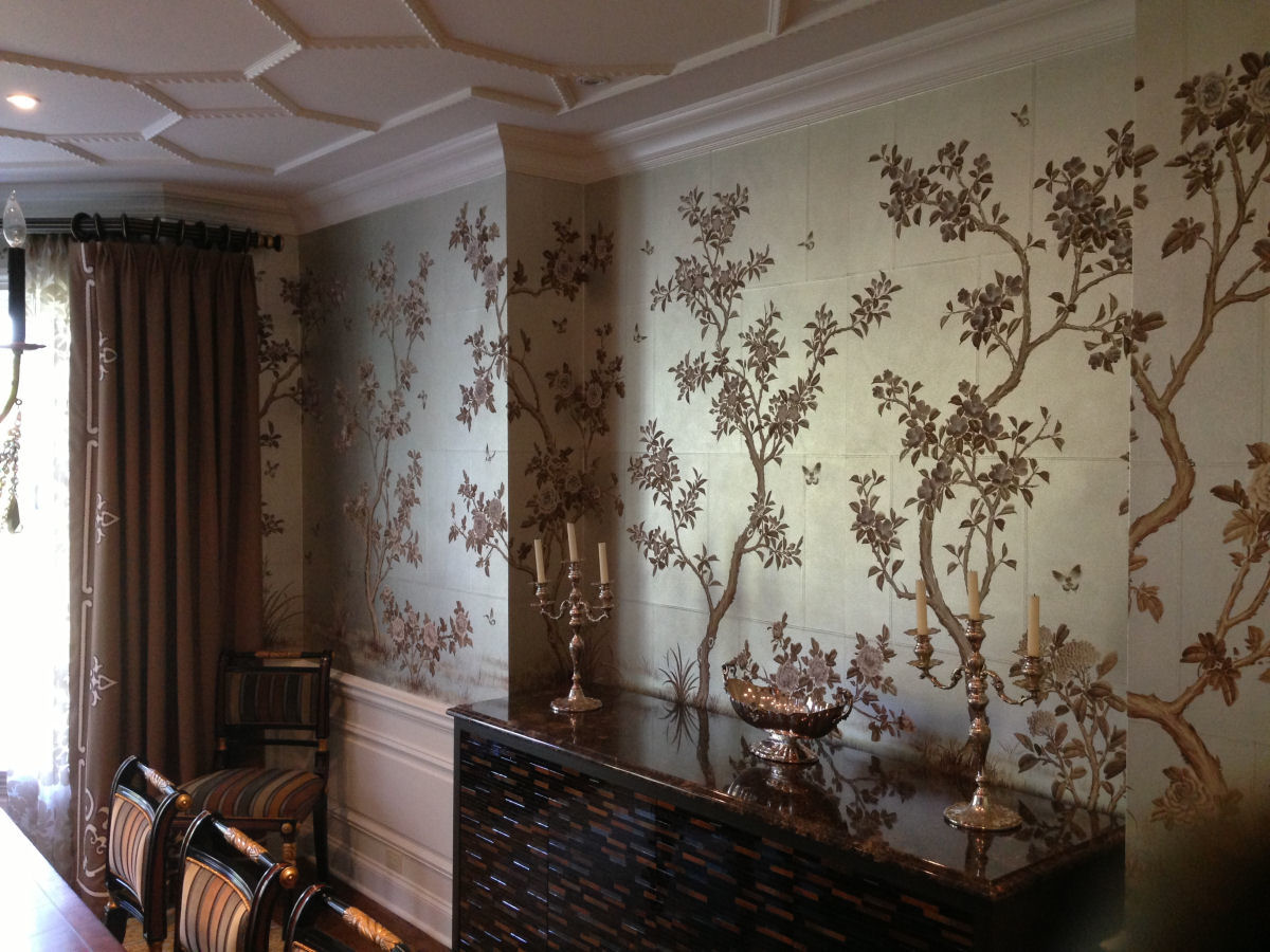 Top zuber chinoiserie wallpaper wallpapers for Chinoiserie mural wallpaper